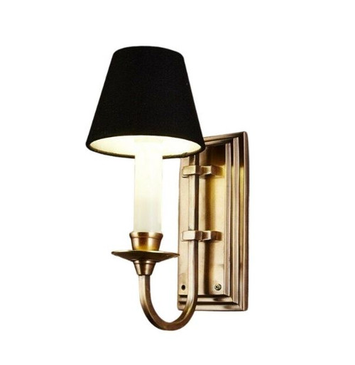 East Borne Antique Brass Wall Light