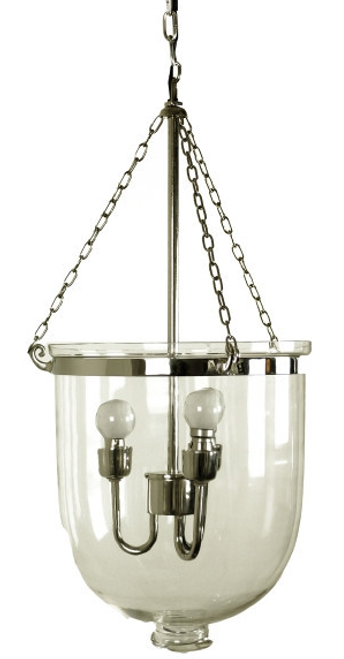 Large Nickel Heritage Dome Lamp