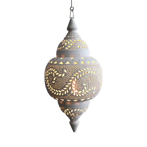 Moroccan White Spherical Pendant