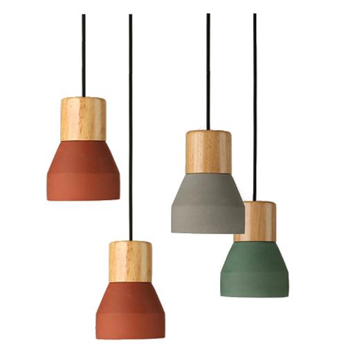 Replica Specimen Cement Wood Lamp