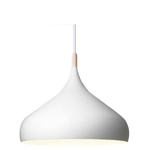 Replica BH2 Benjamin Hurbert Metal Wood Tip Pendant Light - White