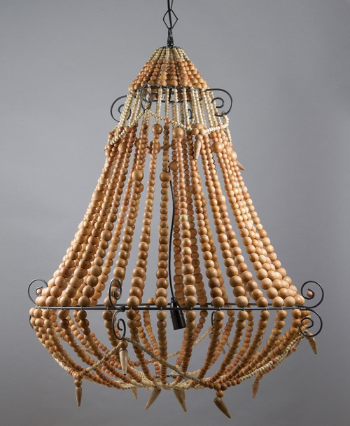 Beaded Chandelier - Natural