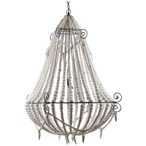 Beaded Chandelier - White