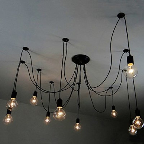 Octopus 10 Light Vintage Edison Adjustable Chandelier