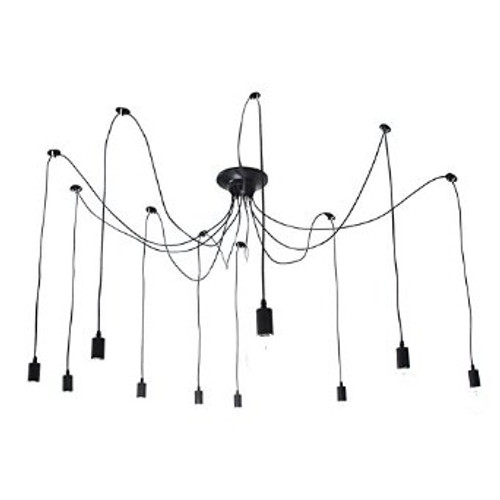 Octopus 10 Light Vintage Edison Adjustable Chandelier Main