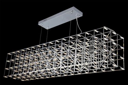 Rectangular Web LED Suspension Pendant Light