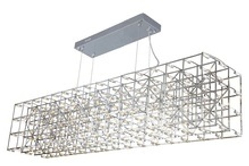 Rectangular Web LED Suspension Pendant Light