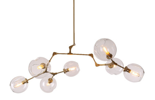 Replica Branching Bubble Chandelier - 7 Light - Thumbnail - The other pictures of the brass are more accurate