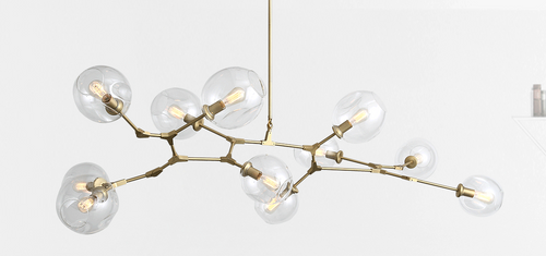 Replica Branching Bubble Chandelier - 7 Light - Brass