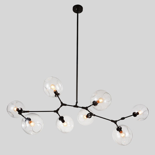 Replica Branching Bubble Chandelier - 8 Light - Black and Clear