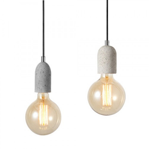 Concrete Base Pendant Light