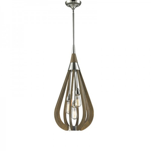 Bonito 3 Light Wood Pendant Light