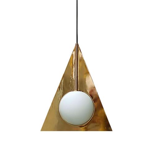 Trigonal Gold Pendant Light