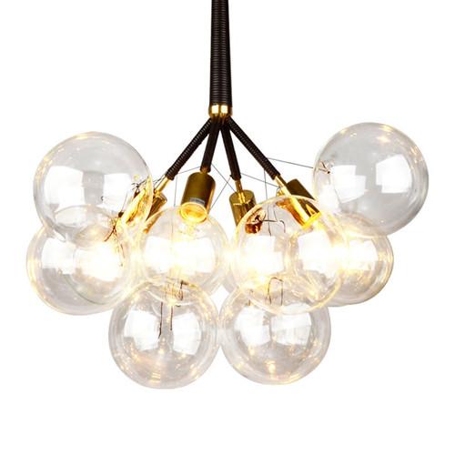 Replica Pelle Bubble Chandelier - Black and Gold