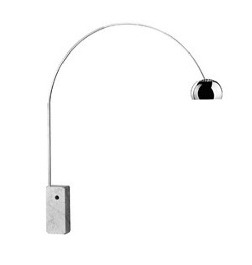 Replica Flos Arco Floor Lamp - White