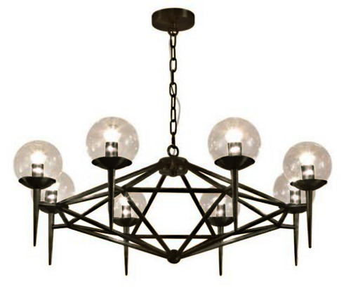 Roman 8 Light Black Chandelier