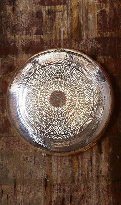 Moroccan Nickel Wall Lamp