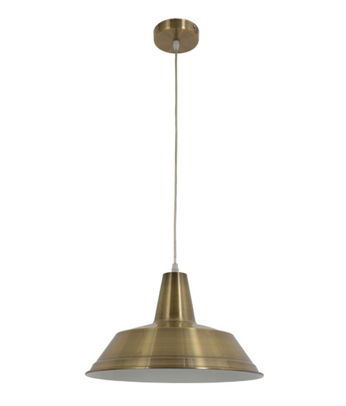 Angled Industrial Pendant light  - Antique Brass