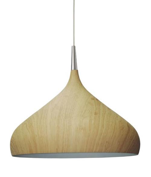 Noor Dome Pendang Light - Oak Wood