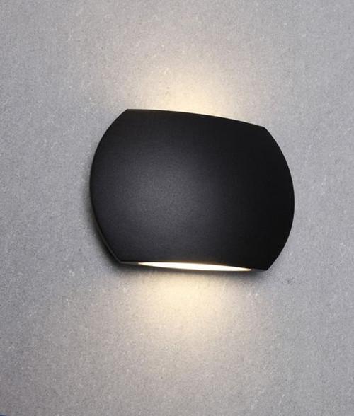 Reno LED Exterior Wall Light - Black