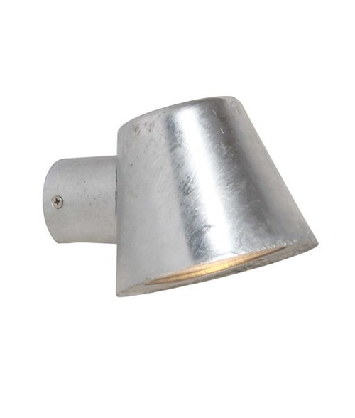 Flat Top Cone Wall Light - Galvanized Steel
