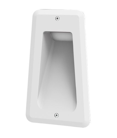 Rectangular LED Recessed Wall Light - Matte White