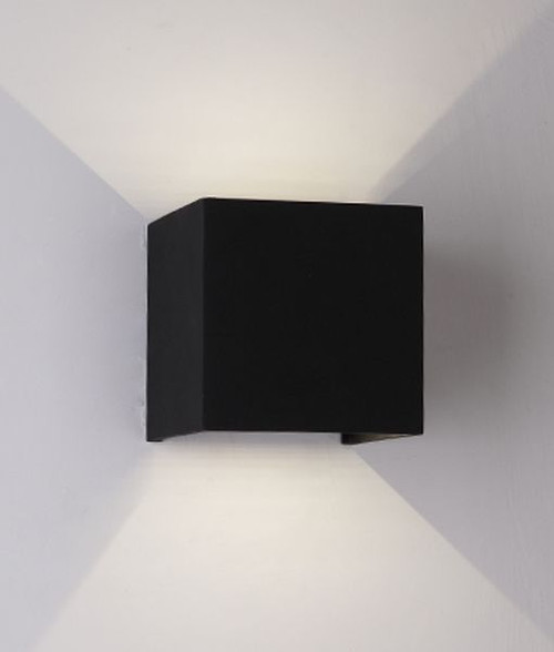 Kubrik LED Adjustable Beam Angle Exterior Wall Light - Black