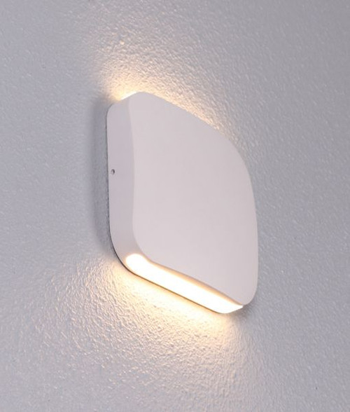 Modern Urban LED Exterior Wall Light - Sand White