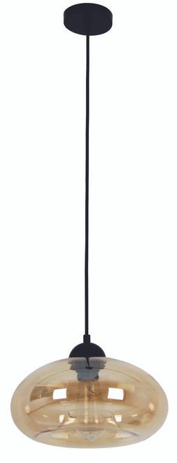 Oval Glass Pendant Light - Amber