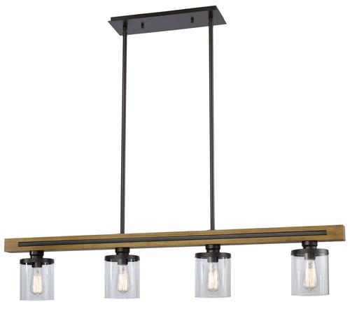 6 Light Copa Wood Pendant Light