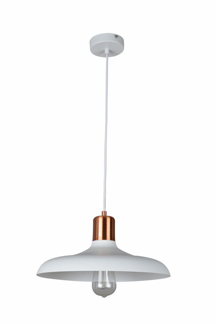 Pascal Dome Copper Pendant Light - Matte White