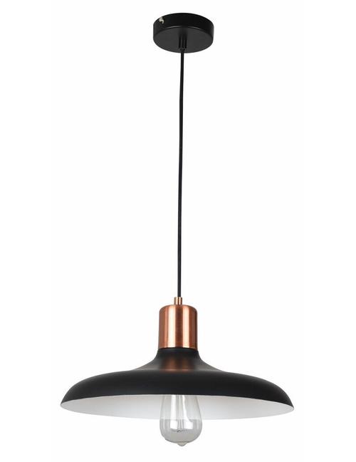 Pascal Dome Copper Pendant Light - Matte Black