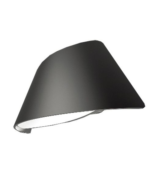 Curved LED Exterior Wall Lights - Matte Black