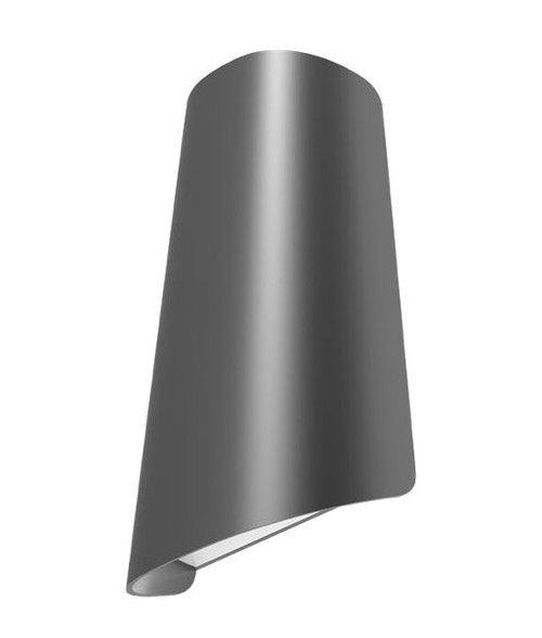 Cone LED Exterior Surface Mounted Wall Light - Dark Grey