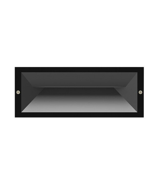 Brick LED Recessed Wall Light - Dark Grey with 270 Lumens