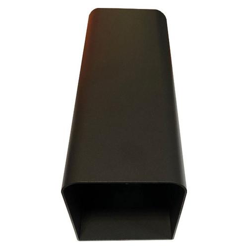 Tube Matt Black Exterior Wall Light