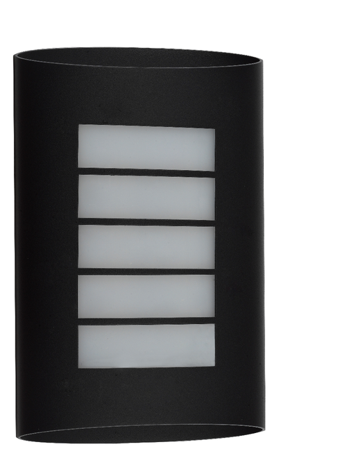 Gridline Exterior LED Wall Light - Black