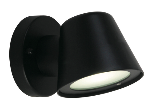 Vista Exterior Downward LED Wall Light - Black