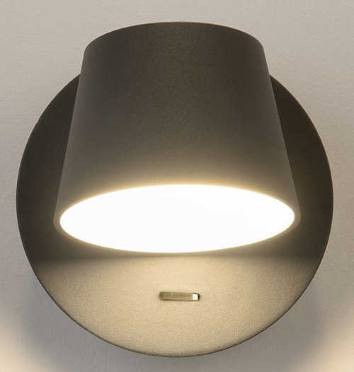 Bask LED Interior 1 Light Wall Light - Black