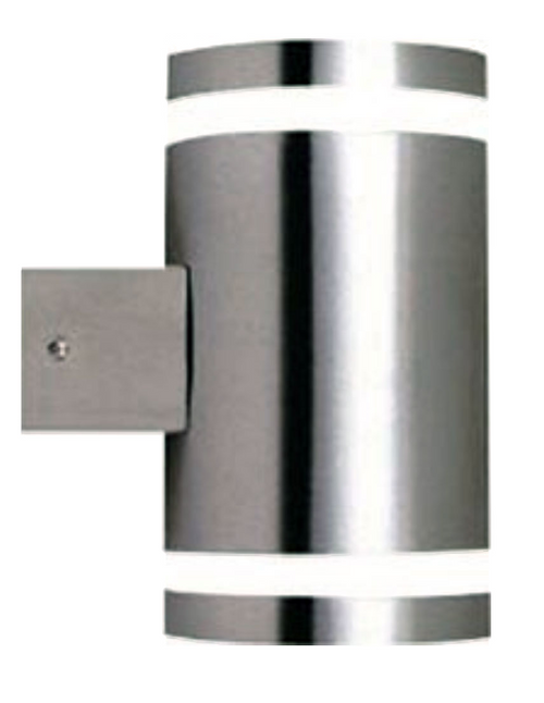 Modern Metro Up Down Pillar Exterior Wall Light - Stainless Steel
