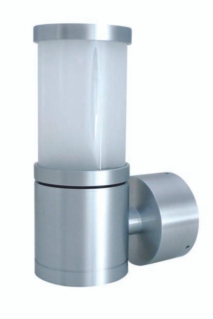 Empero Spun Cylinder Exterior Wall Light - Aluminium