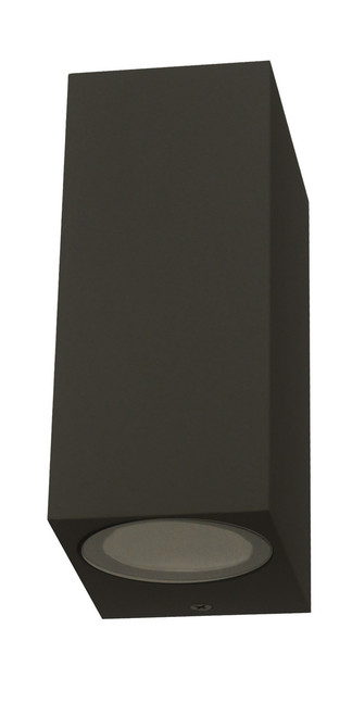 Square Up Down Exterior Wall Light - Sand Black