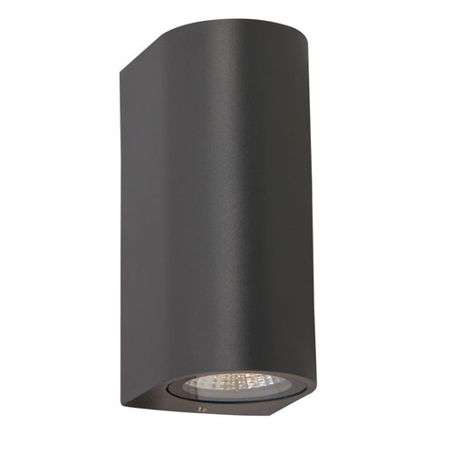 Eros Black Round Up Down Exterior Wall Light
