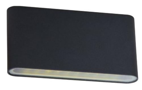 Plato Plain Exterior LED Wall Light - Black
