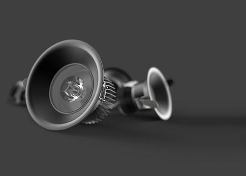 The D2000+ LED Downlight-Black