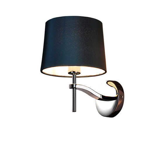 Grace Wall Lamp-Black Linen Shade