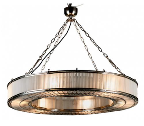 Monaco Large Glass Metal Pendant Light Chandelier