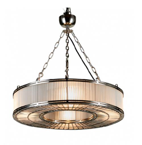 Monaco Medium Glass Metal Pendant Light Chandelier