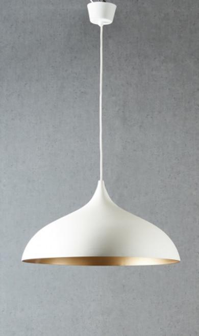 Maca Dome White Pendant Light