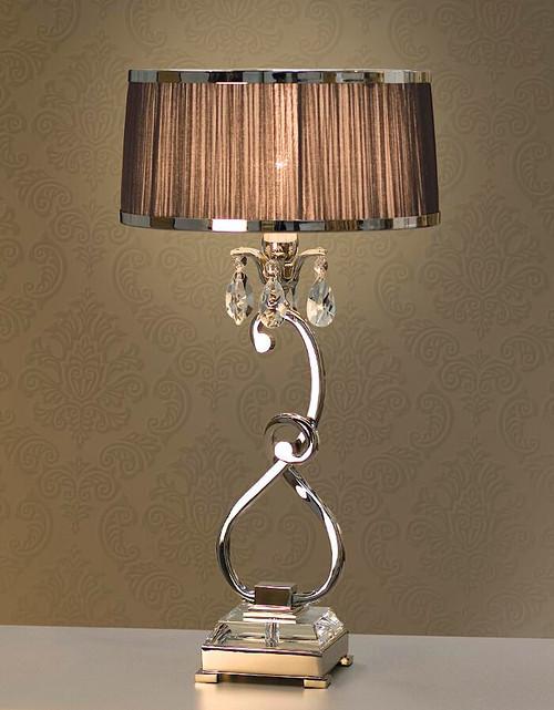 Luxuria 1 Light Table Lamp in Aubergine